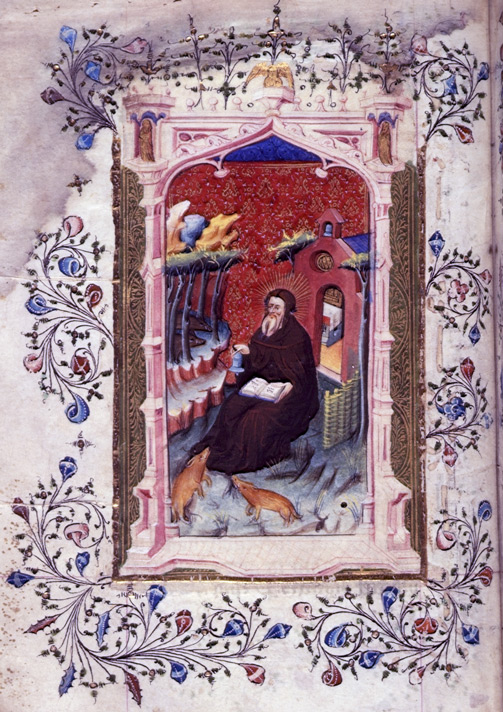 St Anthony the Hermit, in a Prayerbook and Beaufort Hours